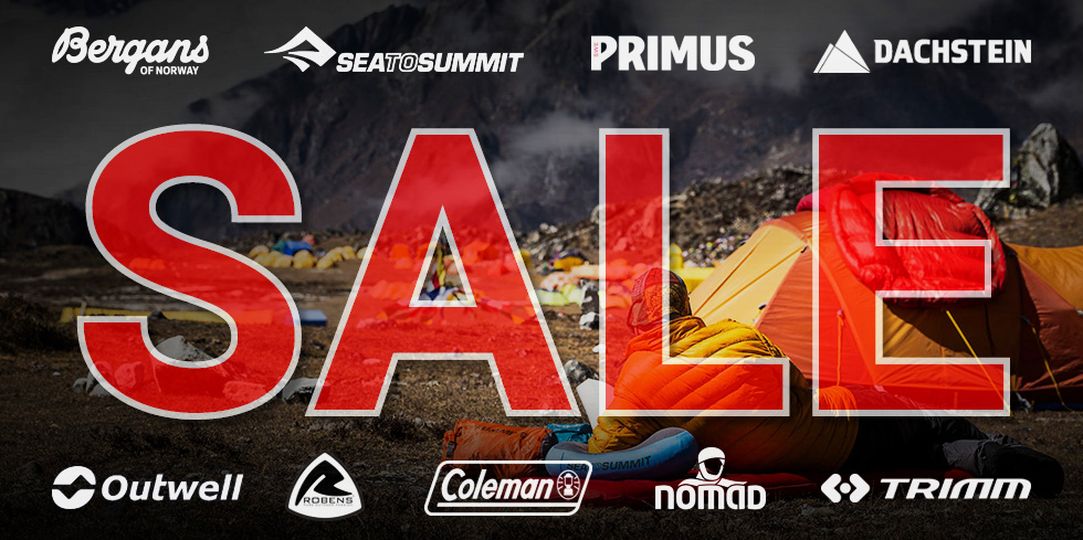 Summer SALE 2017 camping and hiking tents, sleeping bags, mats, stoves, jackets, pants
