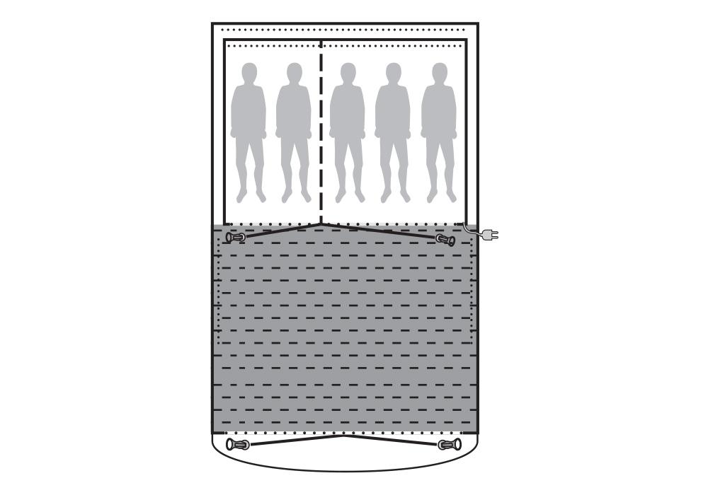 Графика на килим Flat Woven Carpet за палатка Outwell Mayville 5SA