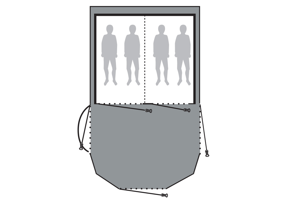 Графика чертеж подложка Outwell Footprint за палатка Nighthawk 4SA