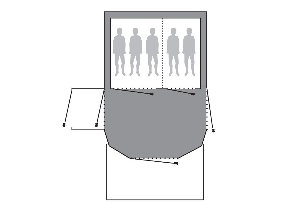 Графика на подложка Outwell Footprint за палатка Tomcat 5SA