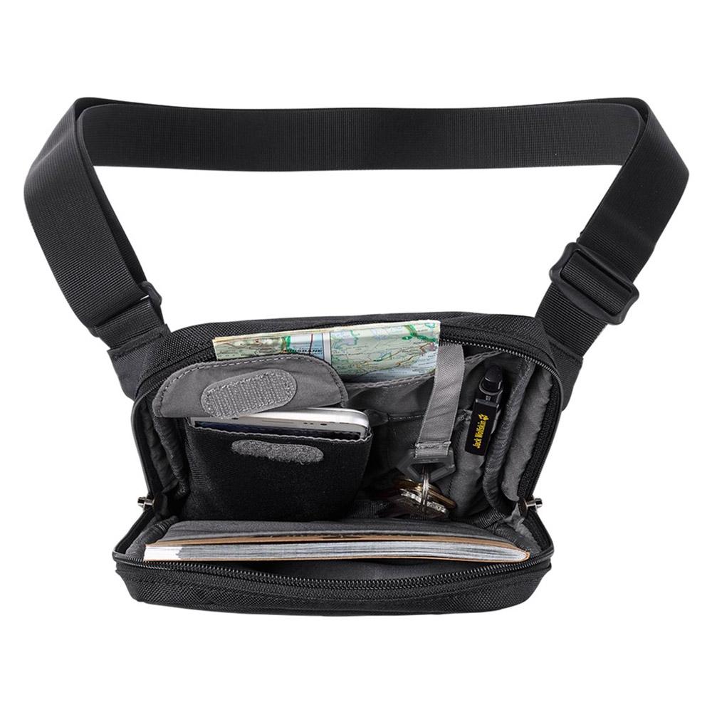 Вътрешност на туристическа чантичка за рамо Jack Wolfskin Purser Black 2020
