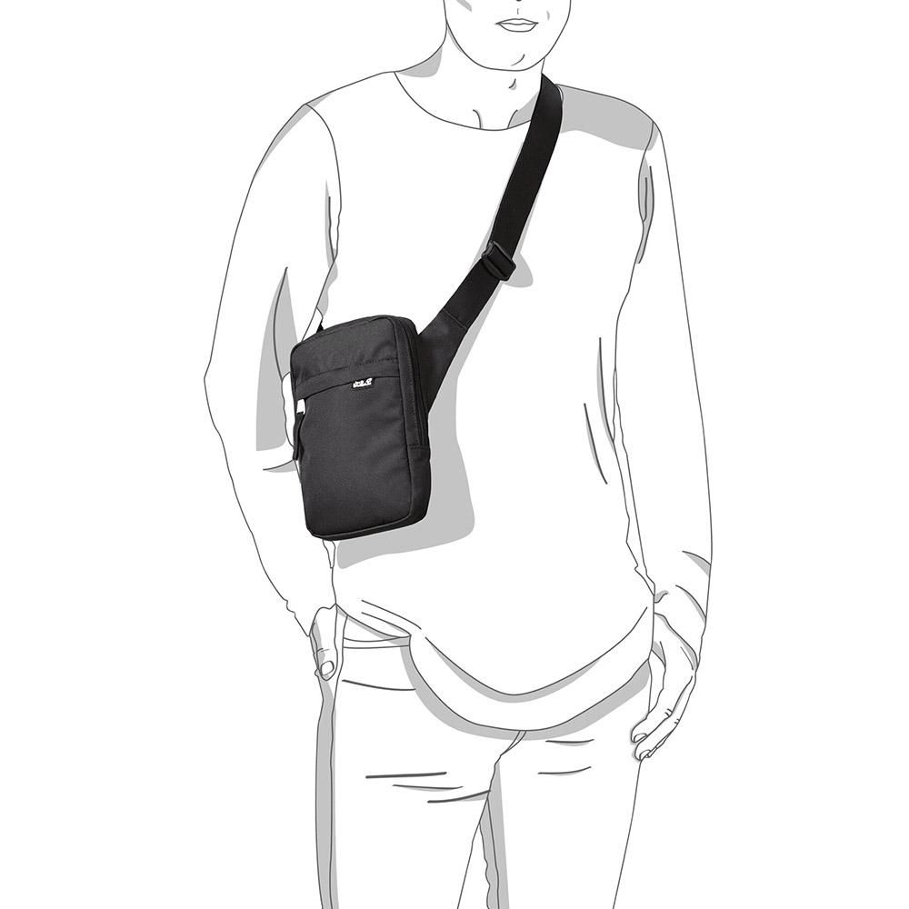 През рамо с туристическа чантичка за рамо Jack Wolfskin Purser Black 2020
