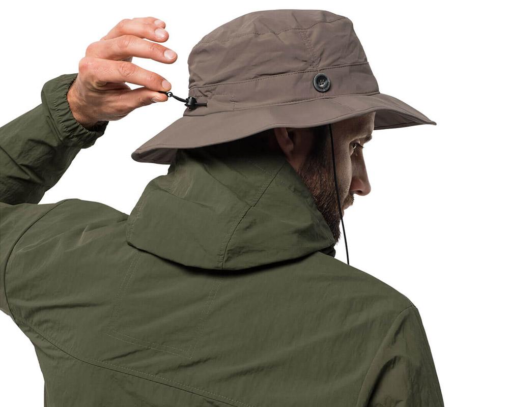 Шнур за пристягане на туристическа шапка с периферия Jack Wolfskin Supplex