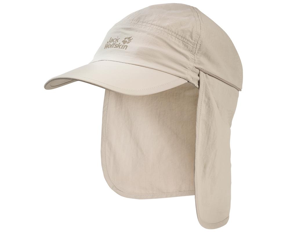 Шал против слънце туристическа шапка Jack Wolfskin Supplex Canyon Cap Light Sand