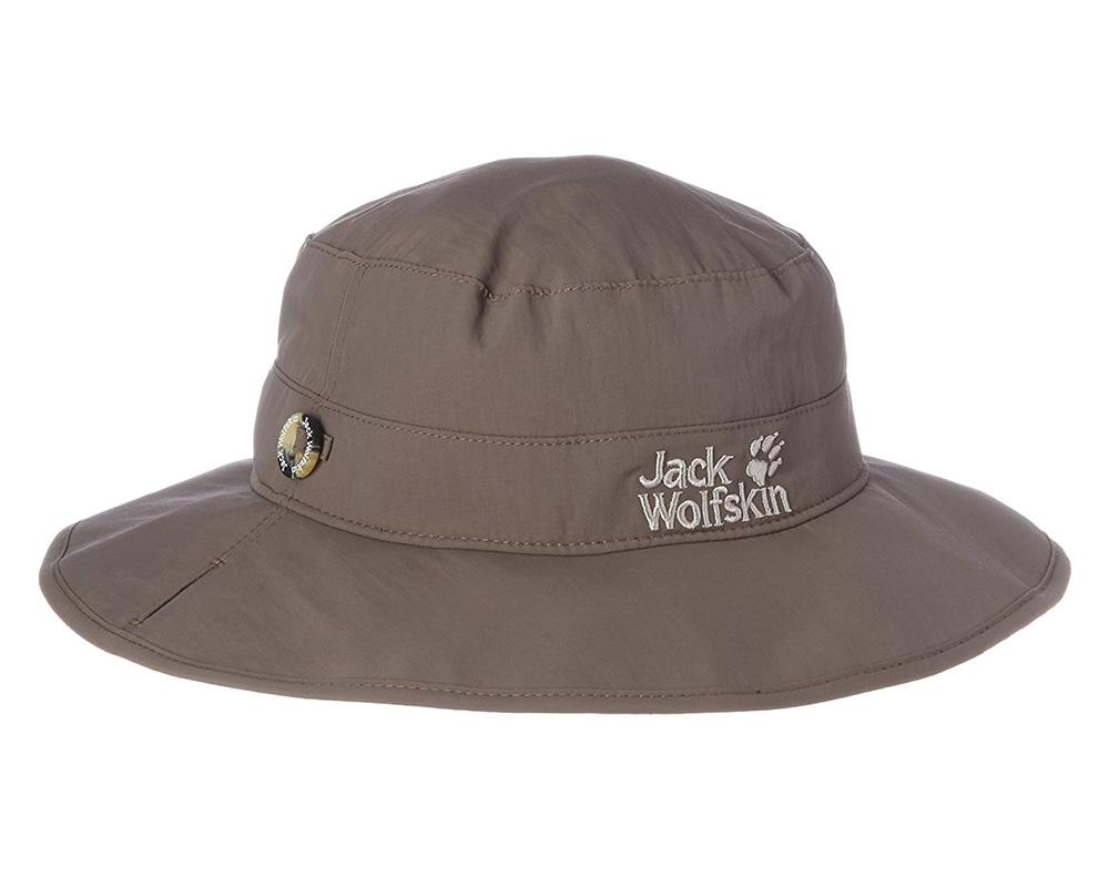 Туристическа шапка с периферия Jack Wolfskin Supplex отгоре