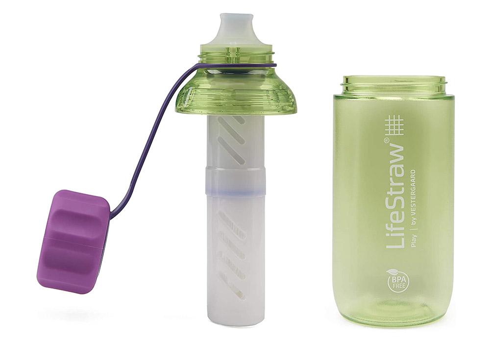 Без капачка детска бутилка за вода с филтър LifeStraw Play 2-Stage Filter