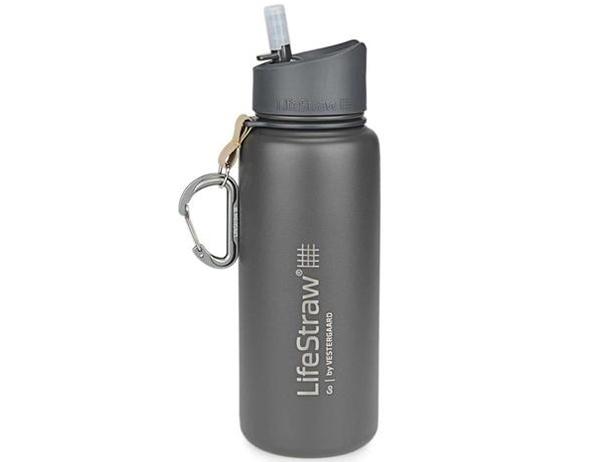 Термо бутилка за вода с филтър LifeStraw Go Stainless Steel 2-Stage Filtration Grey