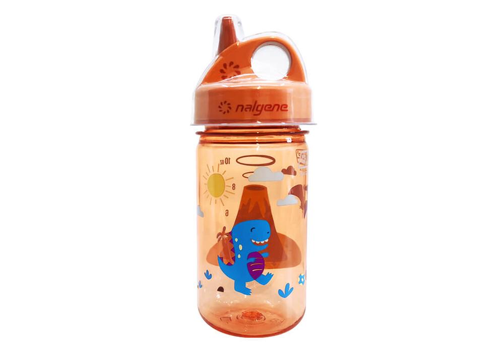 Детска бутилка за вода Nalgene Grip-n-Gulp 0.35 L Orange Vulcano