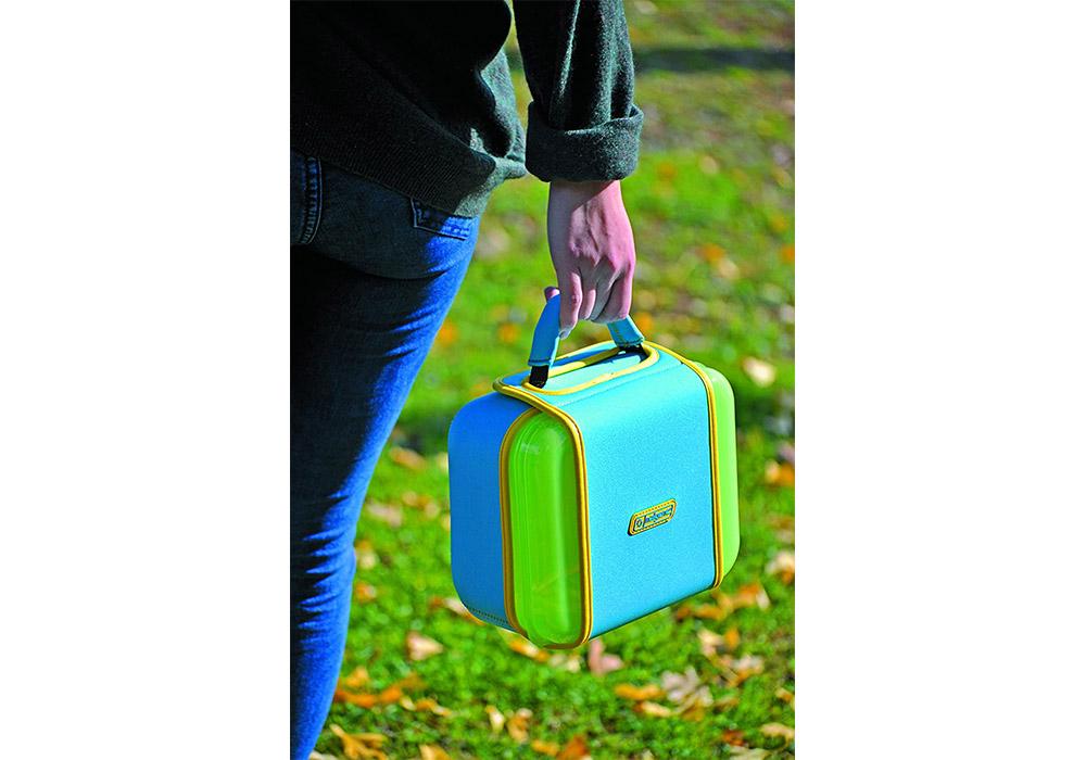 Дете с кутия за храна Nalgene Lunch box Buddy Blue