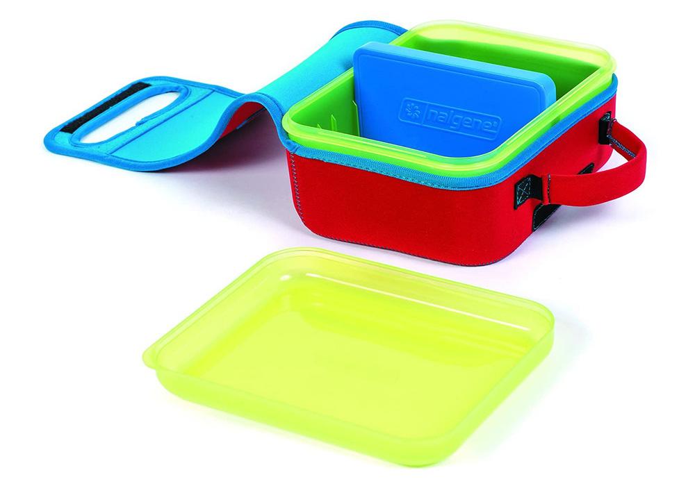 Вътре в кутия за храна Nalgene Lunch box Buddy Blue