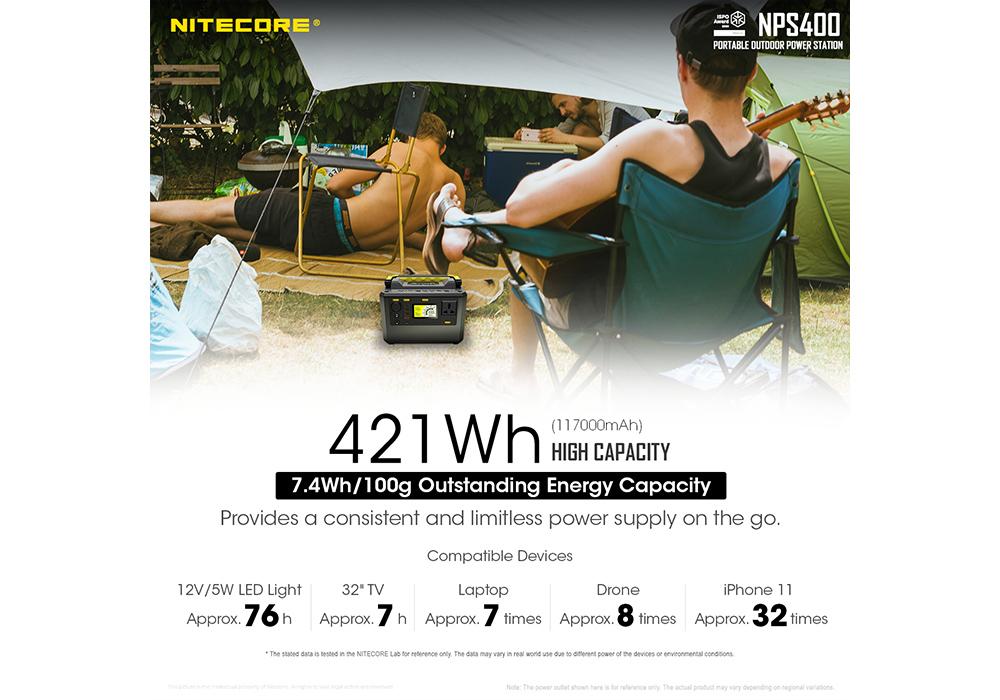 Nitecore NPS400 Portable Outdoor Power Station