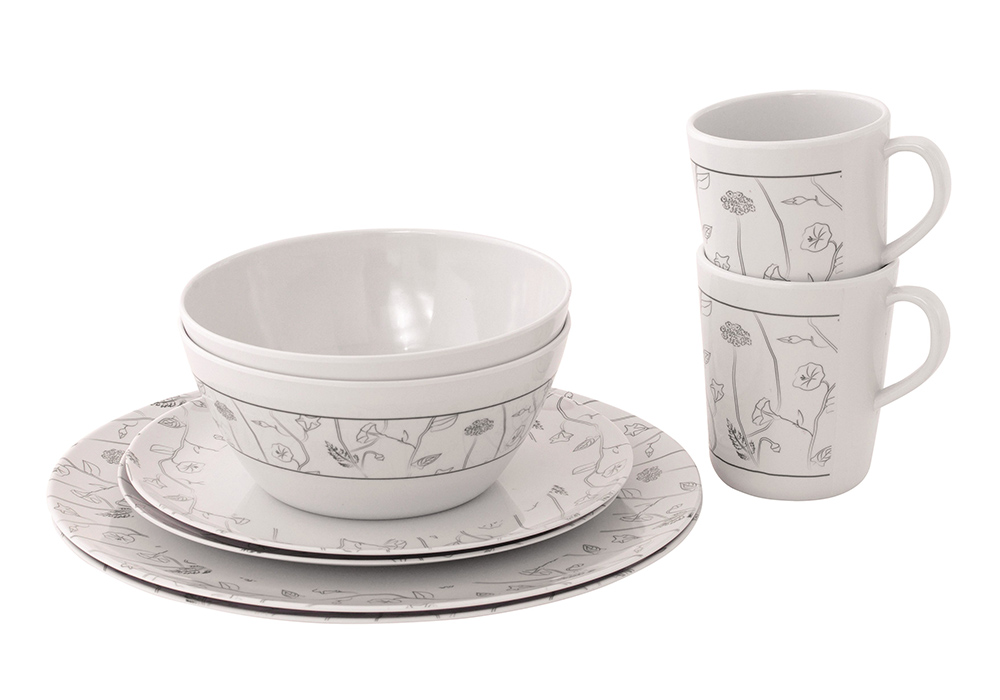 Комплект съдове за хранене за двама души Outwell Dahlia 2 Person Dinner Set 2021