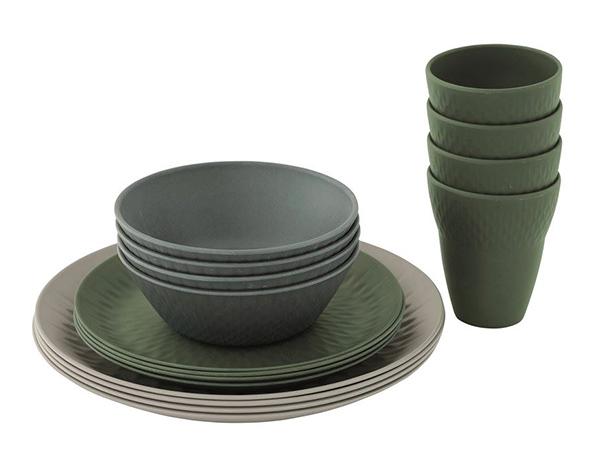 Комплект съдове за хранене за четири души Outwell Tulip 4 Person Dinner Set 2021