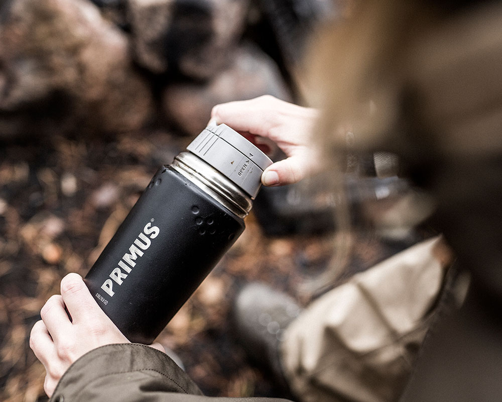 Термос Primus TrailBreak Vacuum Bottle SS с 2 различни капачки