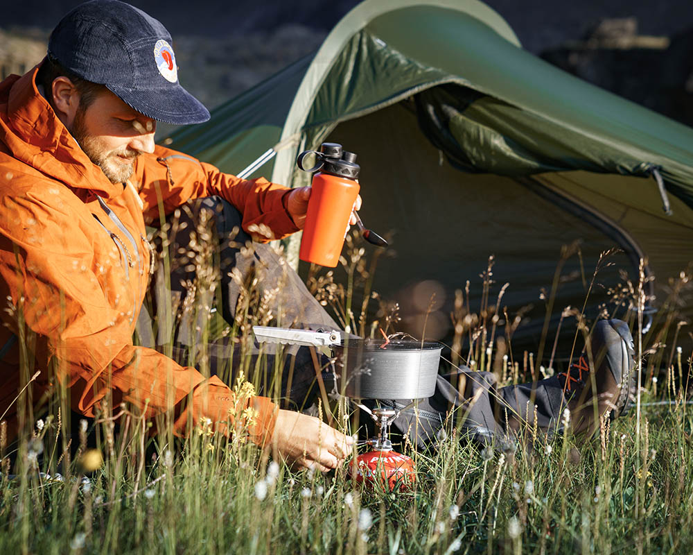 Готвене до палатката с термо бутилка Primus TrailBottle