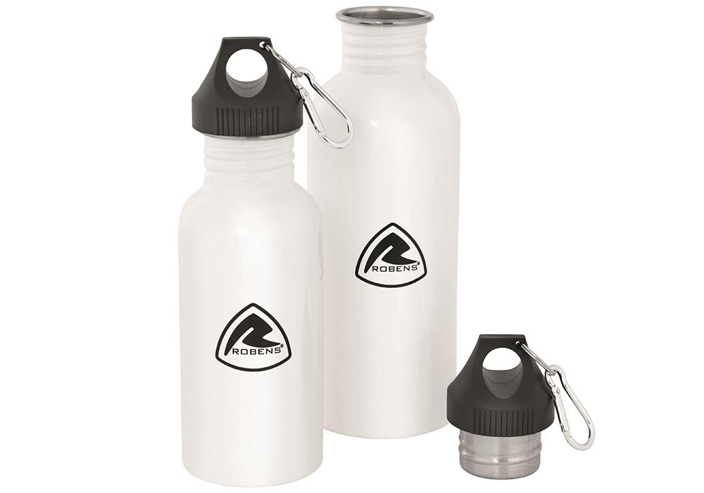 Бутилка за туризъм Robens Tongass Steel Bottle 0.6L с капачка на винт и карабинер