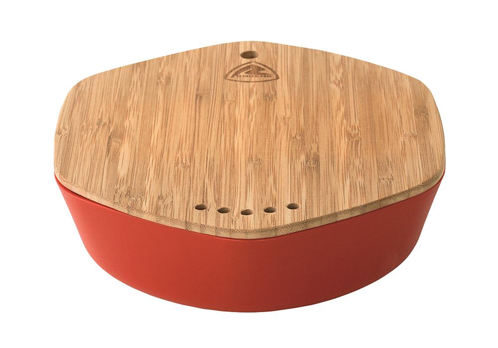Купа и бамбукова дъска комплект съдове за хранене Robens Leaf Meal Kit Fire 2020