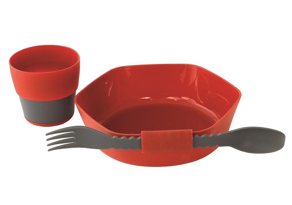 Държач за прибора комплект съдове за хранене Robens Leaf Meal Kit Fire 2020