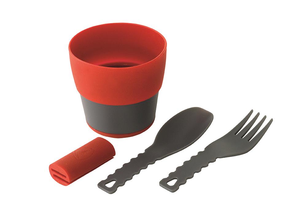 Чаша и прибори за комплект съдове за хранене Robens Leaf Meal Kit Fire 2020