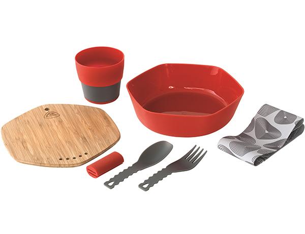 Комплект съдове за хранене Robens Leaf Meal Kit Fire 2020