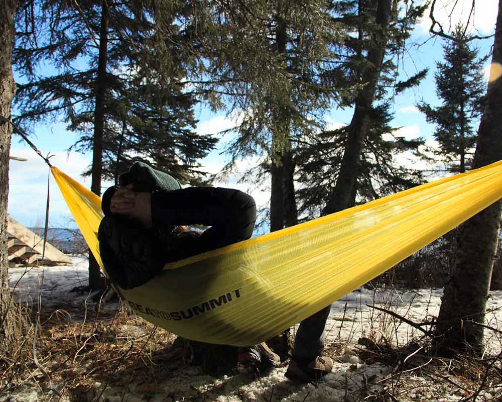 Ултралек хамак Sea to Summit Ultralight Hammock в планината