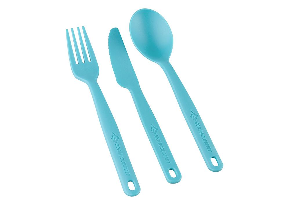Комплект прибори за хранене Sea to Summit Camp Cutlery Set Pacific Blue