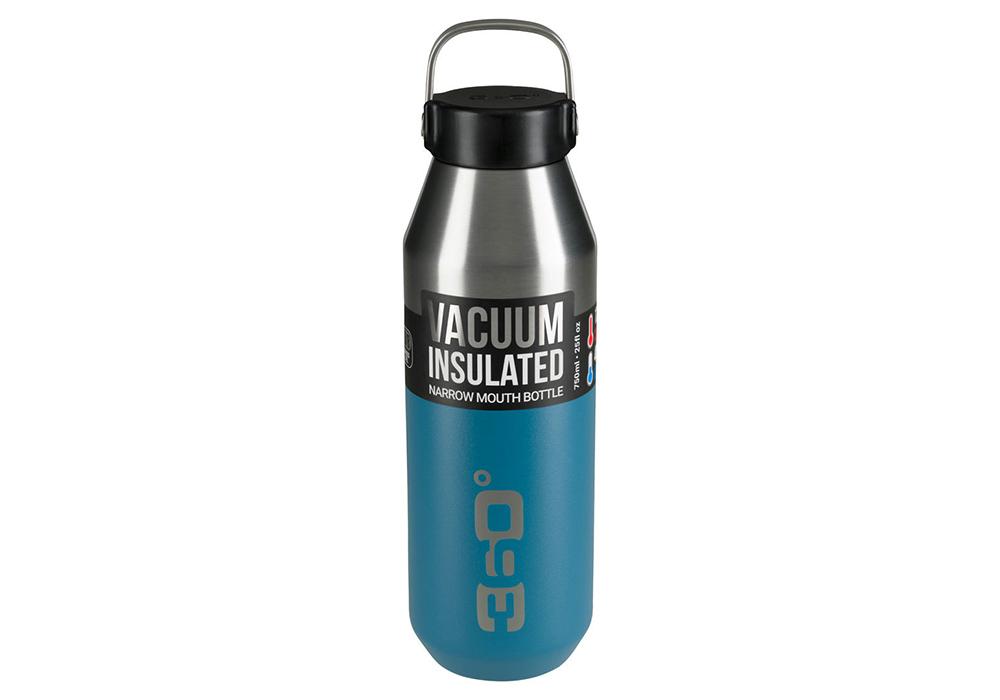 360 Degrees Vacuum Narrow Mouth Stainless Bottle 0.75L Denim