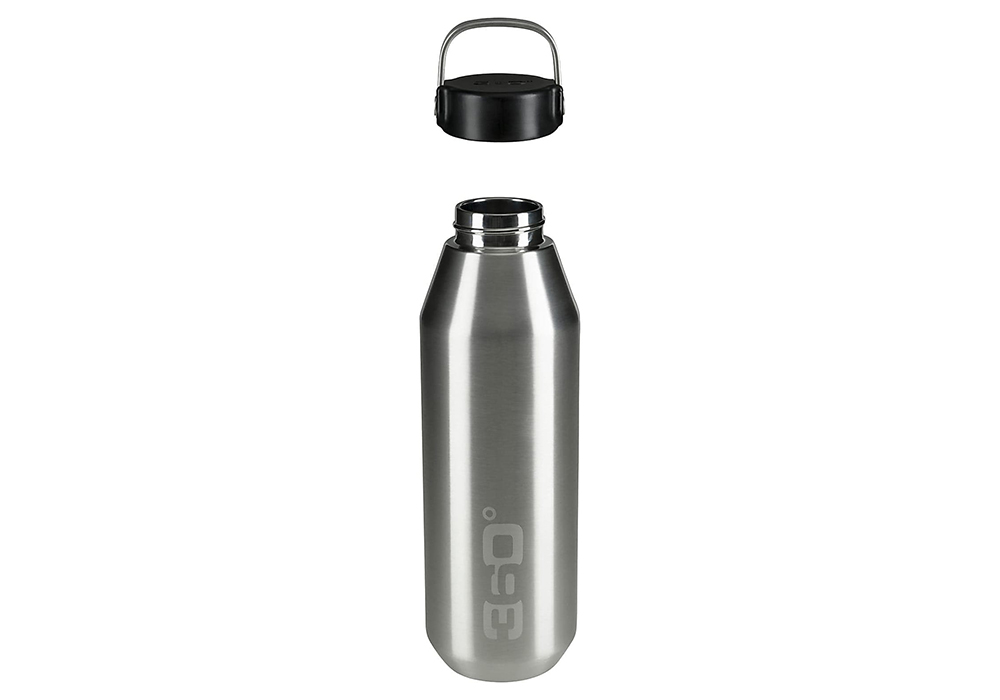 360 Degrees Vacuum Narrow Mouth Stainless Bottle 0.75L SIlver open