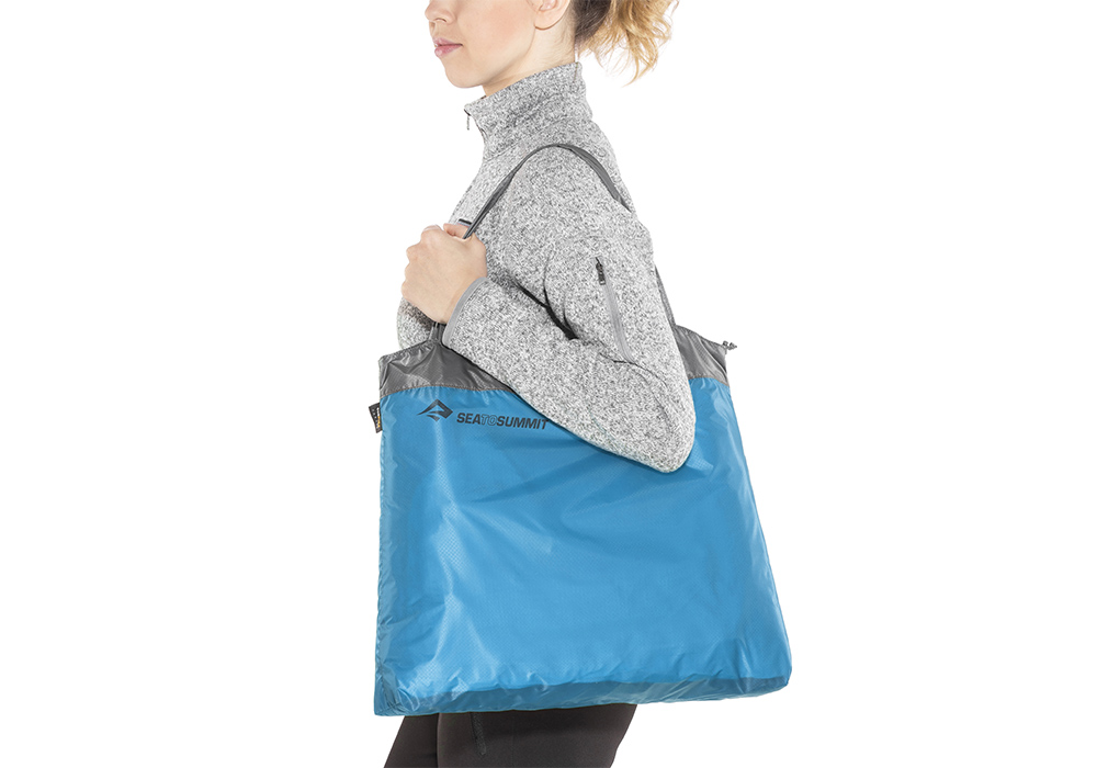 На рамо с джобна чанта Sea to Summit Ultra-Sil Shopping Bag Sky Blue