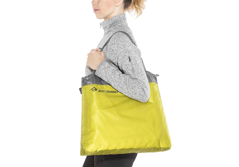 На рамо с джобна чанта Sea to Summit Ultra-Sil Shopping Bag Lime