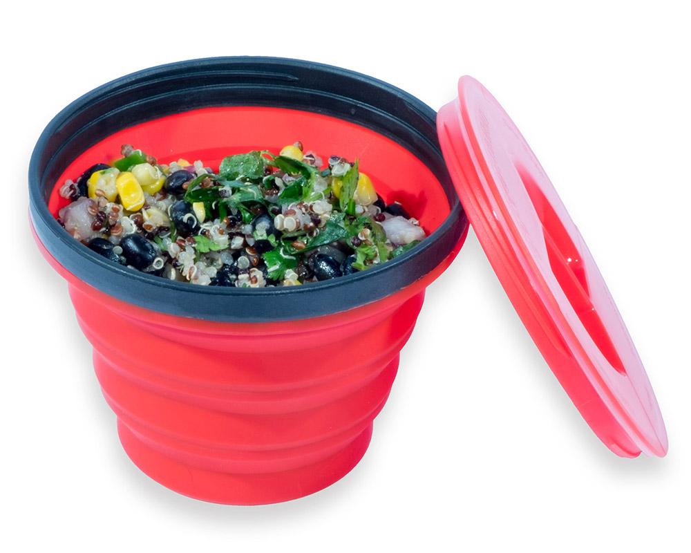 Храна в сгъваема чаша с капак Sea to Summit X-Seal & Go Medium