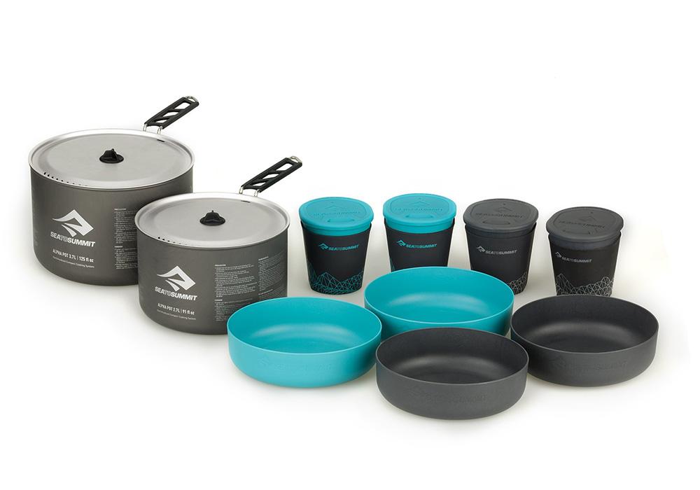 Комплект съдове за готвене и сервиране Sea to Summit Alpha 2 Pot Cook Set 4.2