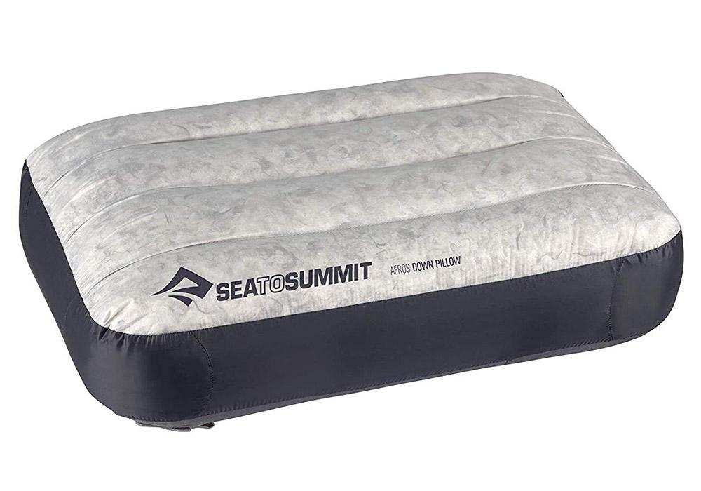 Надуваема пухена възглавница Aeros Down Pillow Large Grey 2020