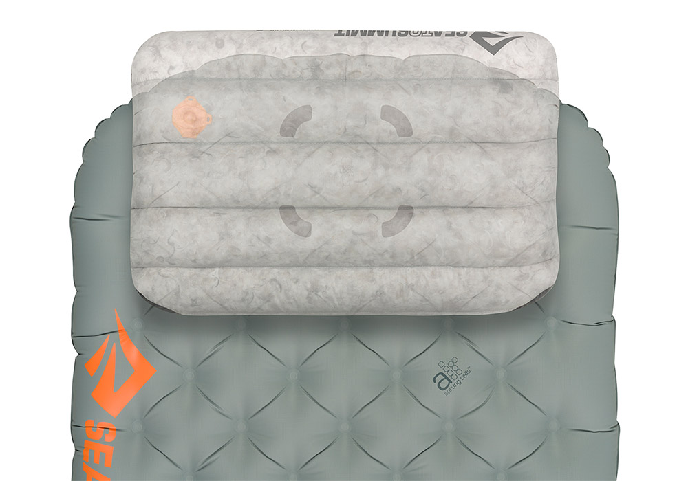 Залепва към постелки надуваема пухена възглавница Aeros Down Pillow