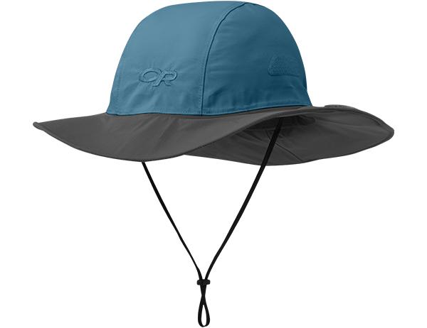 Туристическа шапка с периферия Outdoor Research Seattle Sombrero Peacock Dark Grey