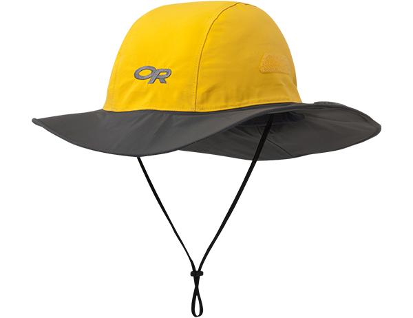 Туристическа шапка с периферия Outdoor Research Seattle Sombrero Yellow Dark Grey 2021