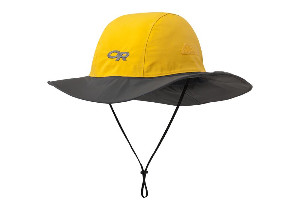Туристическа шапка с периферия Outdoor Research Seattle Sombrero Yellow Dark Grey