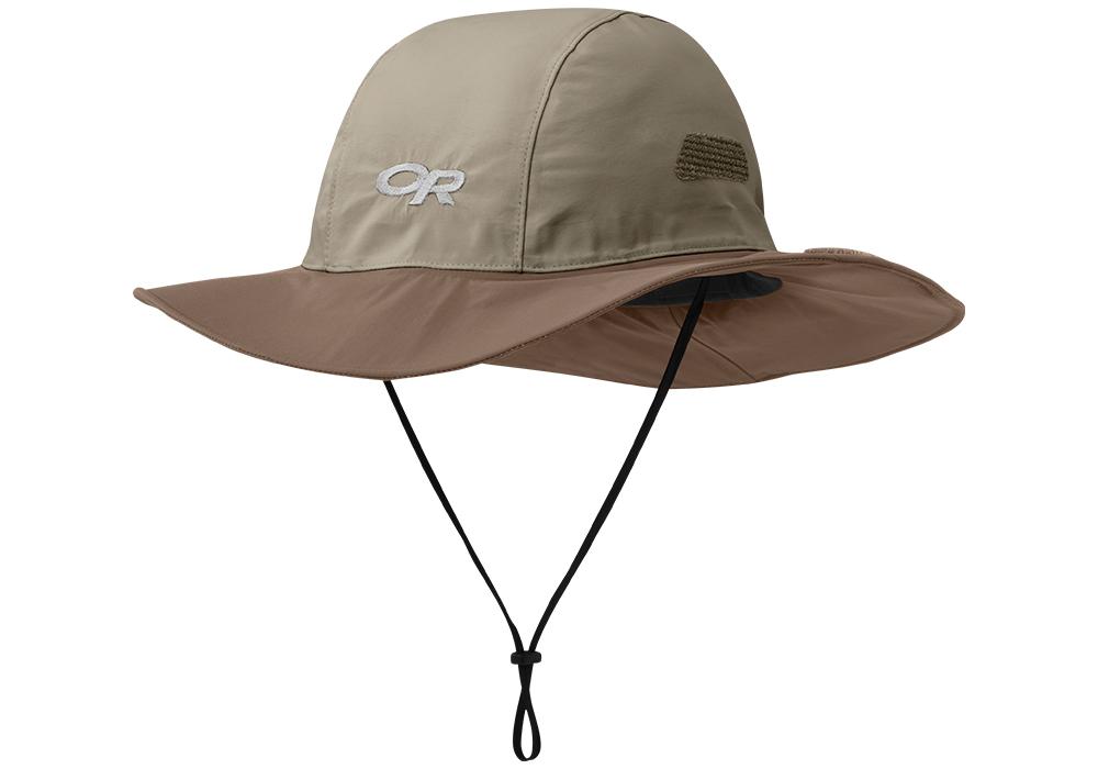 Туристическа шапка с периферия Outdoor Research Seattle Sombrero Khaki Java