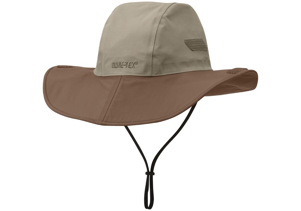 Туристическа водоустойчива и слънцезащитна шапка с периферия Outdoor Research Seattle Sombrero Khaki Java