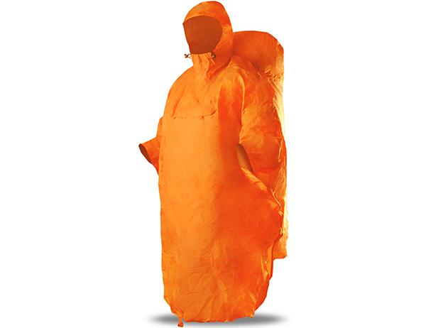 Poncho Raincoat Trimm Ones Orange