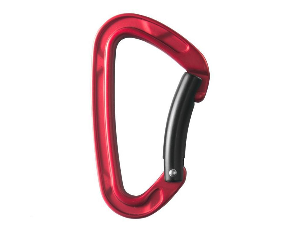 Карабинер за катерене STUBAI Rock Clip 2.0 Bent Gate Red