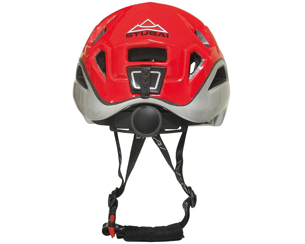 Поглед отзад на каска за катерене и алпинизъм STUBAI Nimbus Red Модел 2017