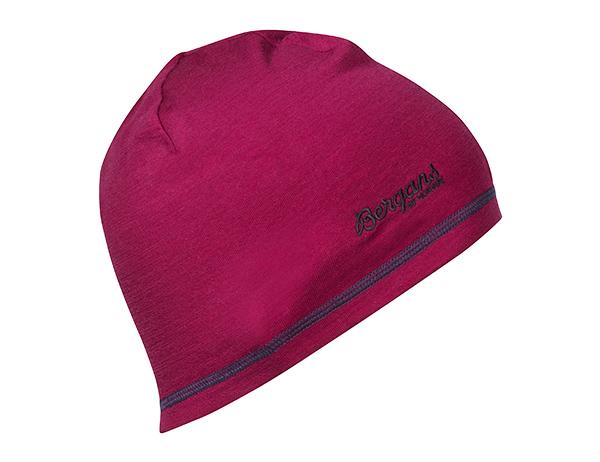 Детска шапка от мерино вълна Bergans Akeleie Youth Beanie Beet Red/Raspberry