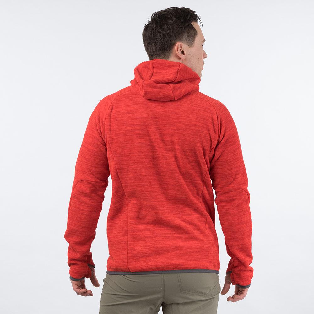 Гръб на мъжко поларено яке Bergans Hareid Fleece Red Melange 2020