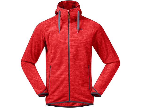 Мъжко поларено яке Bergans Hareid Fleece Red Melange 2020