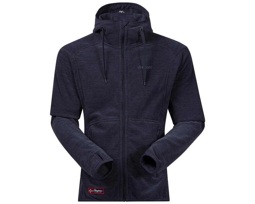Мъжко поларено яке Polartec Bergans Hareid Jacket Dark Navy Melange