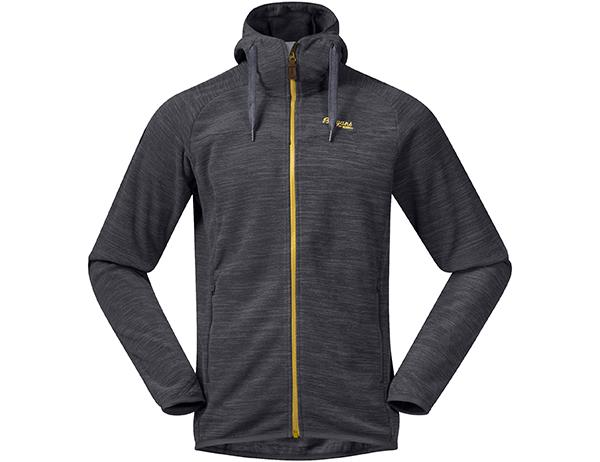 Мъжко поларено яке Bergans Hareid Fleece Solid Charcoal Mel / Waxed Yellow