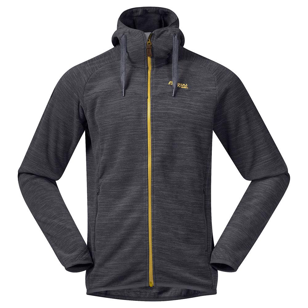 Мъжко поларено яке Bergans Hareid Fleece Jkt Solid Charcoal /Waxed Yellow