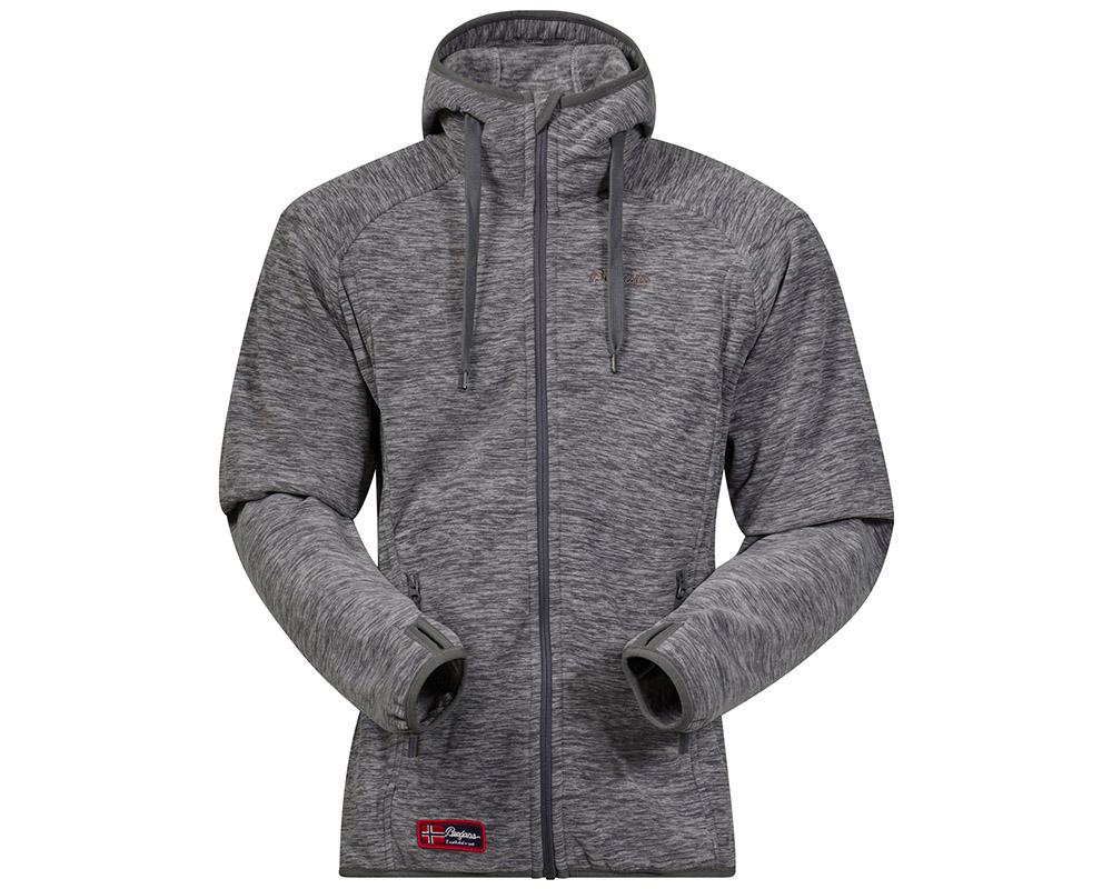 Мъжко поларено яке с качулка Bergans Hareid Jacket Dark Grey