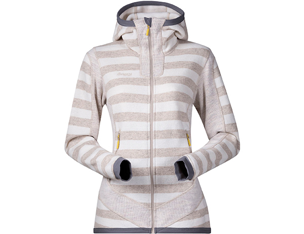 Дамско вълнено яке Bergans Hollvin Wool Lady Jacket Cream/Light Beige Striped